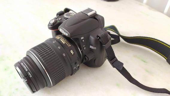 Câmera Dslr Nikon D5000 + Lentes (15~55+55~200) 4464 Clicks