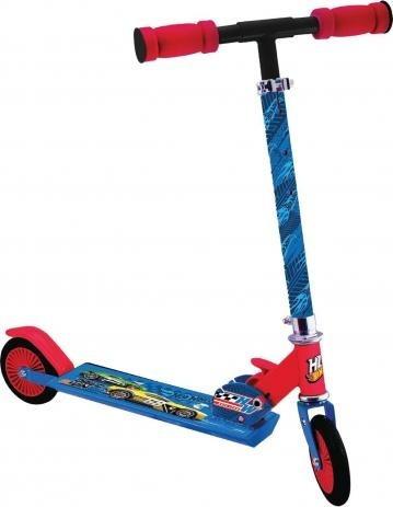 Patinete Infantil Masculino 2 Rodas Hot Wheels Azul Original