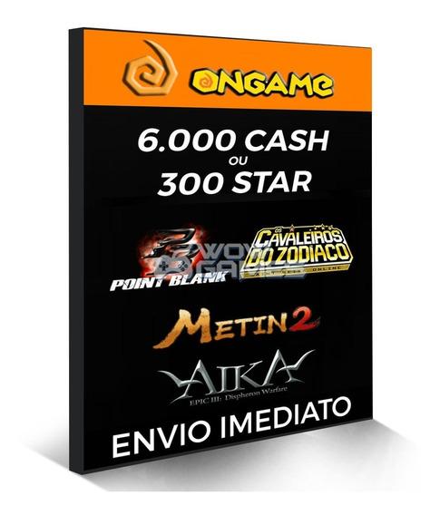 Point Blank Cartão 6.000 Cash 6k Pb - Ongame Aika Metin2