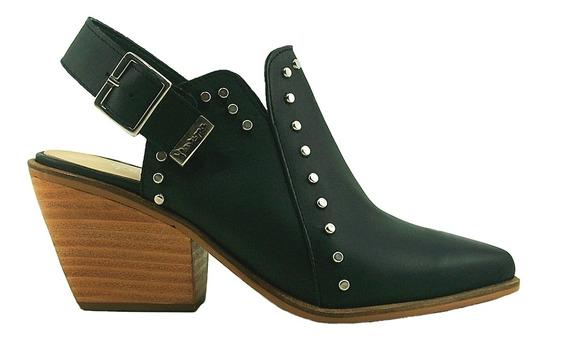 Zapato Charro Tacon Con Hebilla Cuero
