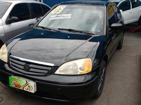 Honda Civic Lx 1.7 Automatico Completo 2003 Preto Gasolina