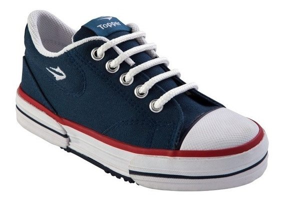 Zapatillas Topper Nova Low Kids Niño Azul Roja Blanca Negro