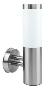 Lámpara Decorativa Pared Led Exterior Plata E27 5w Bms-057