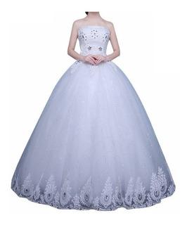 Nb25 Vestido De Noiva Debutante Barato Princesa Contas Lindo