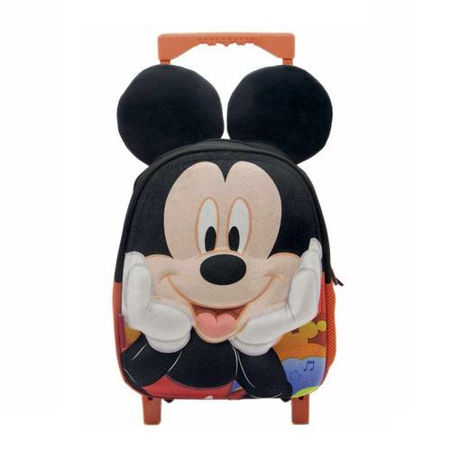 Mochila Mickey Con Carro Infantil De 2 A 5 Años Con Orejas