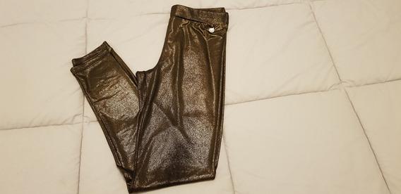 Calza Brillosa Negro Y Dorado Rapsodia Talle S