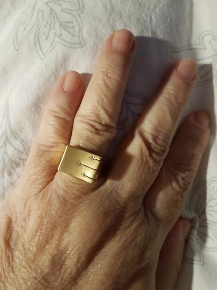 Anel De Ouro Amarelo.retangular 4 Gramas