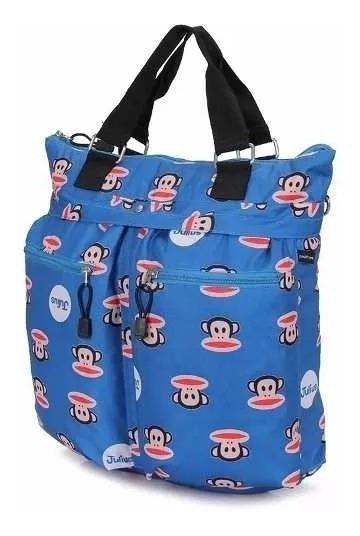 Bolsa Juvenil Feminina Tote Bag Paul Frank Original Azul