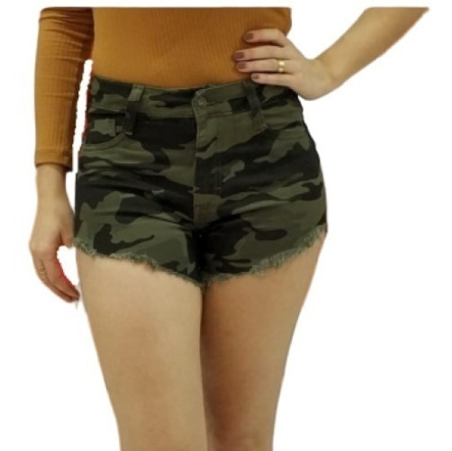 Shorts Feminino Curto Jeans Shortinho Ilhós Estilo Pitbull 34 A 46