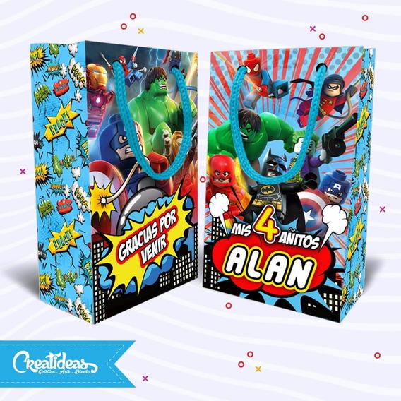 Superheroes Lego Superman Bolsitas Personalizadas Pack X30