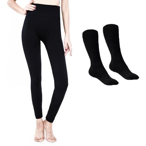 Invierno Pantalon Leggings Termico Y Medias Ropa Termica