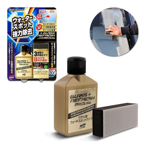 Glass Refresh Removedor Manchas Em Parabrisas Soft99 80ml