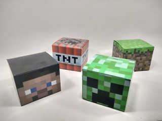 Minecrf - Cubo Box (pack X40 Cajitas)