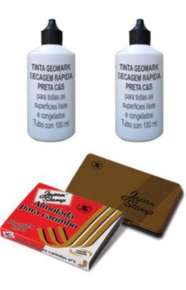 Tintas Secagem Rápida Geomark (2 Un)+ Almofada 70x110 Mm