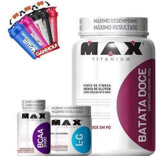 Kit Definição - Batata Doce + Bcaa + Glutamina Max Titanium