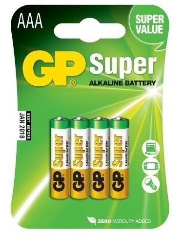 Pilha Super Alcalina Aaa 1.5v - Gp - 4 Unidades