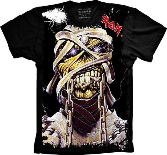 Blusa Fem. Frete Grátis Banda Iron Maiden Rock In Rio 85