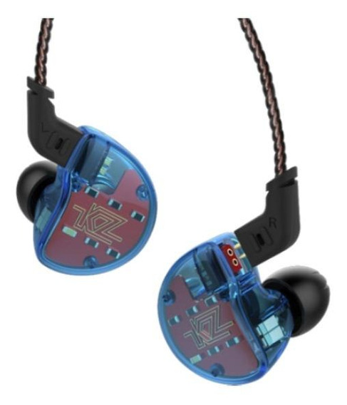 Fone de ouvido KZ ZS10 blue