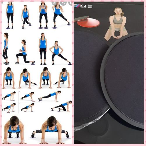 entrenamiento Cross Core Sliders/ /2ER Ejercicios deslizante Discos/ /Ideal para Crossfit /Dual Sided Dise/ño trabajar en suelos o alfombras abdominal Entrenamiento routines/