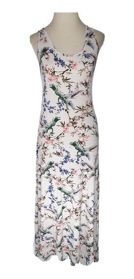 Vestido Mujer Modal Largo Estampado Moda Molly Misha V9987