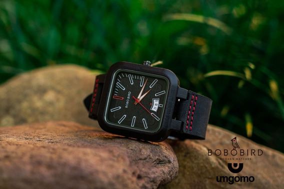 Relógio De Madeira Castanea Bobo Bird