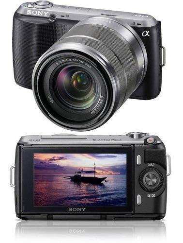 Câmera Digital Sony Nex C3k 16.2 Mp Preta Com Flash