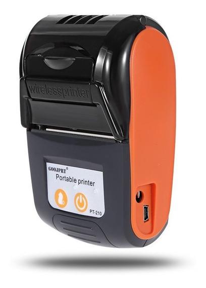 Impressora Térmica Portátil Bluetooth 58mm Pt-210 Em Estoque