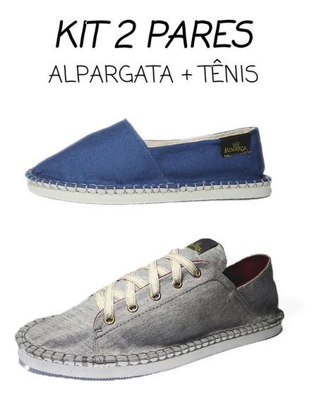 Alpargata Sapato Tenis Combo 2 Par Sapatilha Docksaid Casual