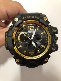 Relogio Casio G-shock Analogico E Digital Dourado Na Caixa