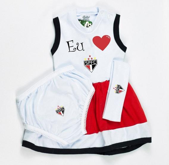 Vestido Infantil São Paulo Infantil Pronta Entrega