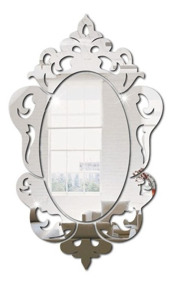 Espelho Decorativo Em Acrílico Espelhado Veneziano Moderno P