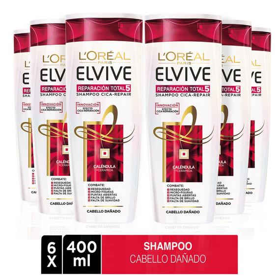Pack 6x Shampoo Elvive Reparación Total 5 L