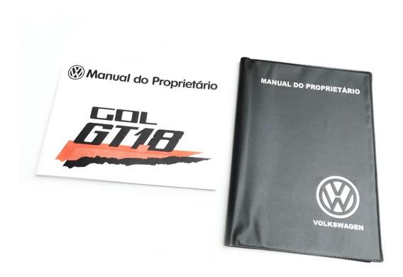Manual Proprietário Vw Gol Gt 1984 + Capa E Adesivo Brinde