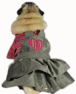 Roupa De Cachorro/ Gato Para O Frio Vestido Inverno Listrado