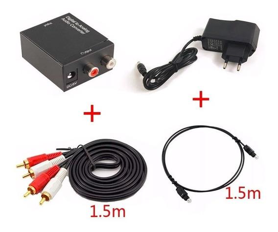 Kit Conversor Óptico Digital P/ Rca Tv Samsung / Lg / Sony