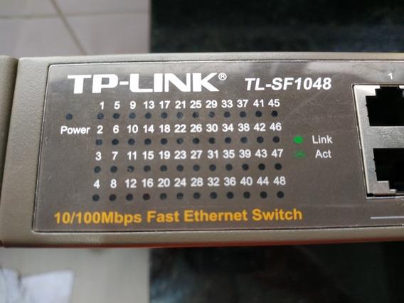 Tp-link Tl-sf 1048 De 48 Portas 10/100 Mbps Semi Novo.