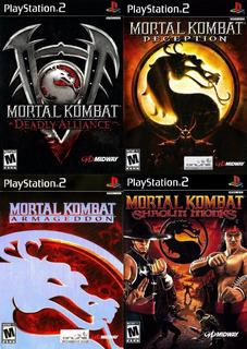 Mortal Kombat Collection Ps2 Juego Playstation 2 ( 4 Discos)