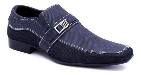 Sapato Social Masculino Casual Couro Legítimo Confortável