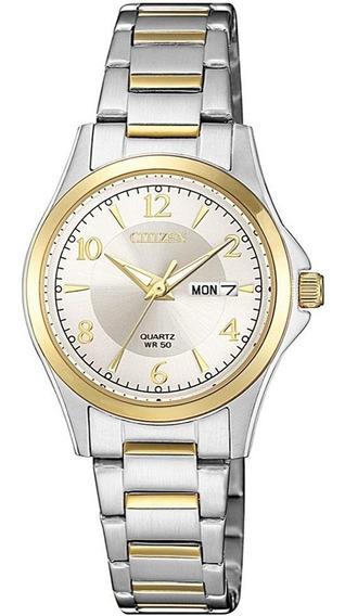 Reloj Dama Citizen Eq0595-55a Acero Quarzo Diseño Casual