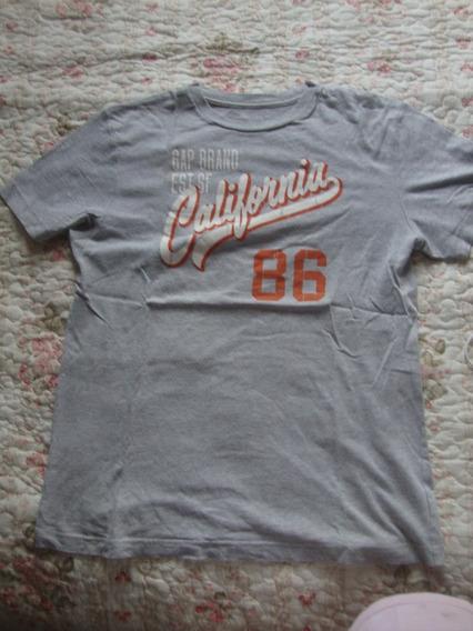 Blusa Gap Camiseta Masculino Curta Cinza