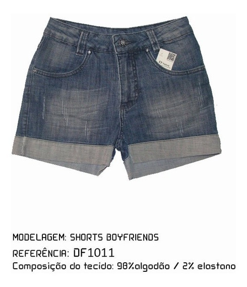 Shorts Boyfriends Jeans Feminino Df1011