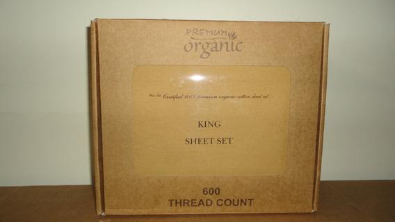 Sabanas Orgánicas Premium Lisa 4 Piezas King Size