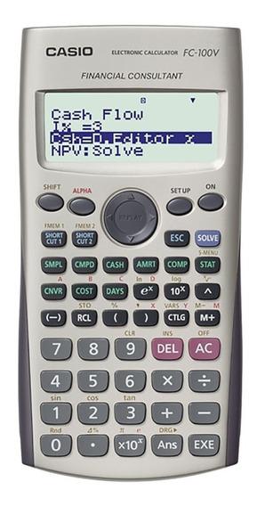 Calculadora Financiera Casio Fc-100v Garantia Oficial 2 Años