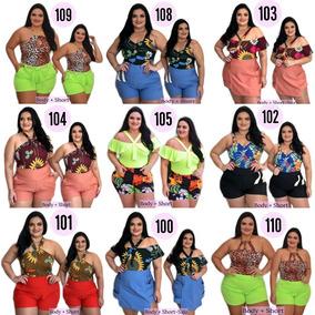 Roupa Feminina Plus Size Tamanho Grande -short E Blusa- Look