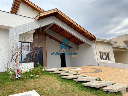 Imagem 1 de 22 de Casa Com 3 Dorms, Residencial Real Parque Sumaré, Sumaré - R$ 785 Mil, Cod: Ca1185 - Vca1185