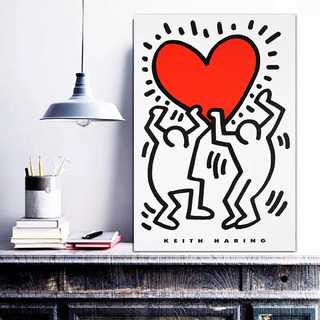 Cuadro Arte Moderno Keith Haring Pop Art Canvas Varios Mod