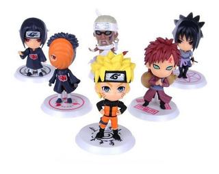 6 Figuras De Naruto Sasuke Obito Yao Gaara Itachi 6 Cm Pvc