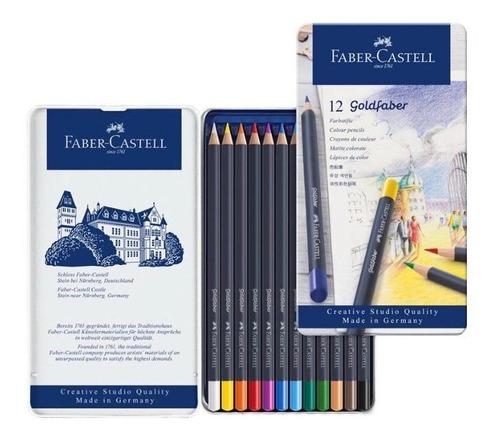Imagen 1 de 5 de Estuche 12 Lápices De Colores, Goldfaber Faber Castell