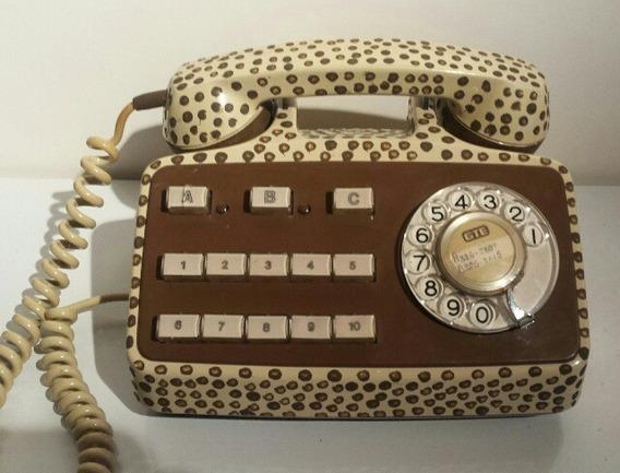 Teléfono Antiguo Intervenido.decoración Retro - Vintage