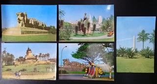 Lote Cartões Postais Antigos Sem Uso Monumentos De Sp 5pç